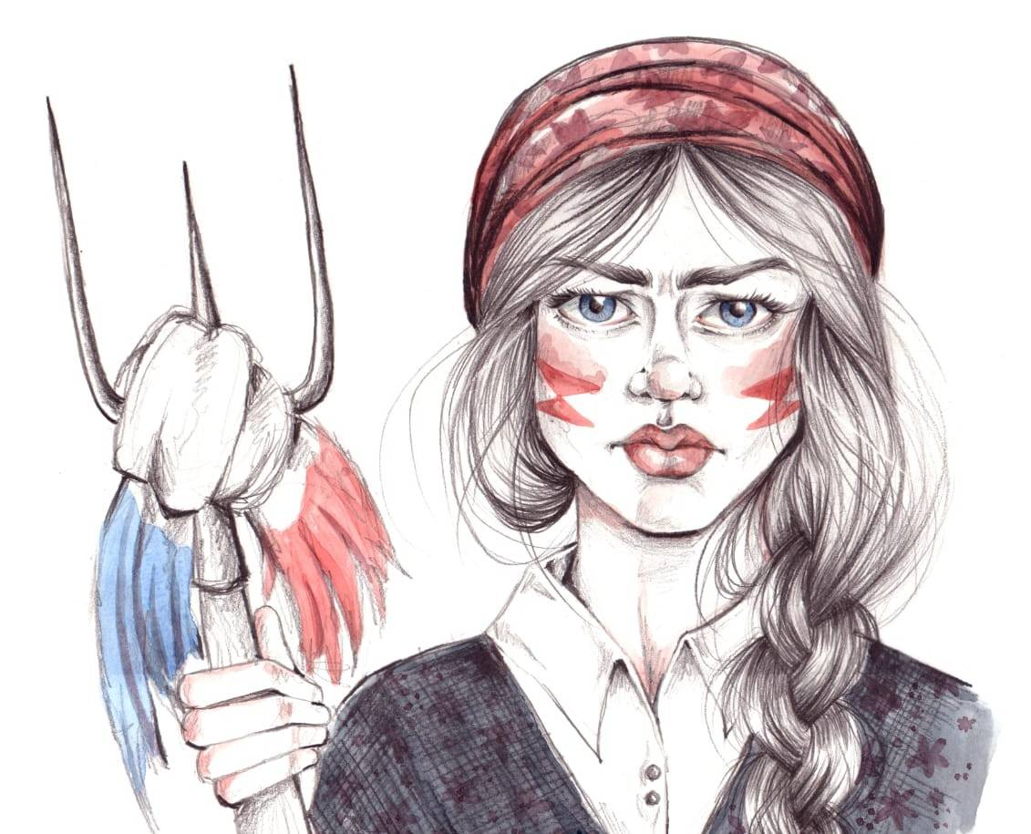 Ilustración para el cartel de la Reconquista de Vigo a cargo de Nuria Pazos Cuadrado