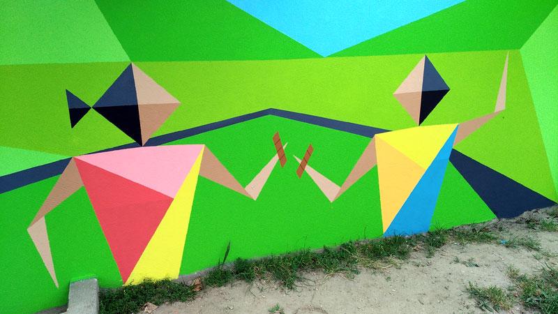 Mural de Flix en Oia, Pontevedra