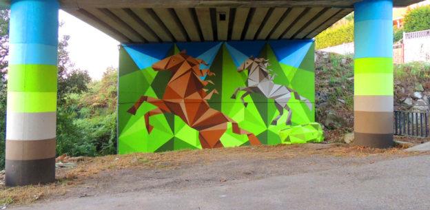 ruta de arte urbano Concello de Oia