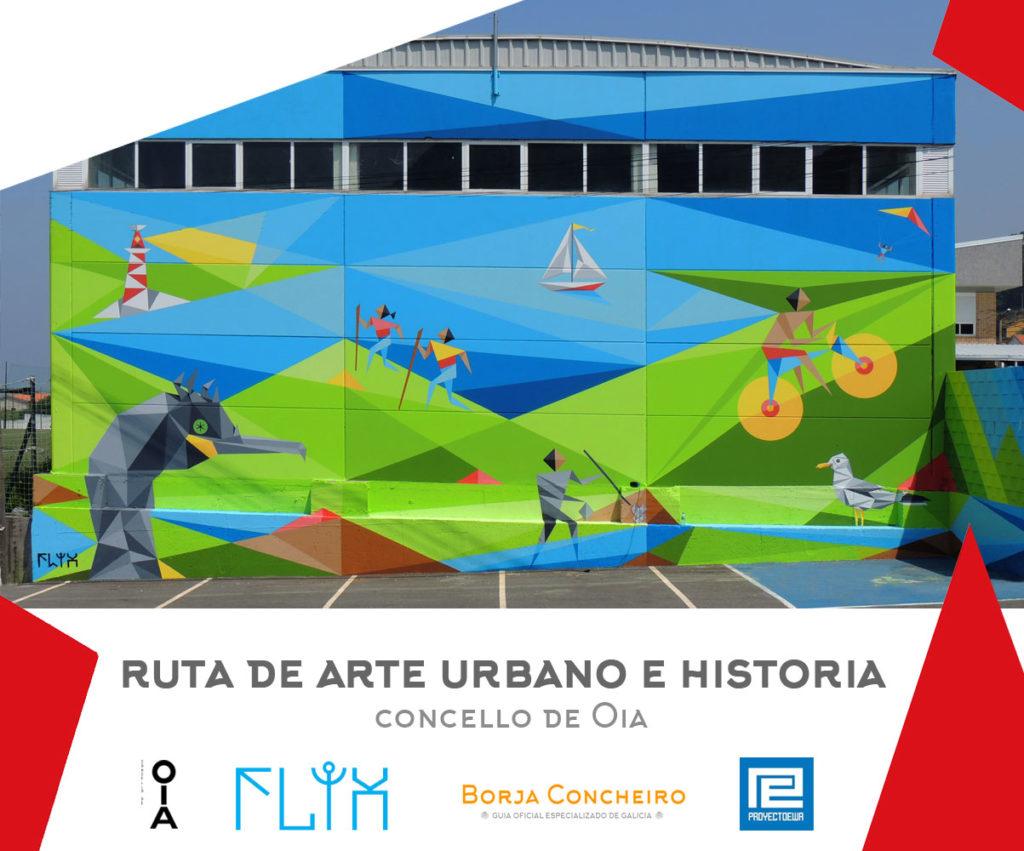 Ruta arte urbano e historia por el concello de Oia, Pontevedra